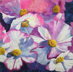 pat rollie Begonias at Butchart Gardens Machine Quilting Unlimited