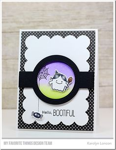 Fab-BOO-lous Friends stamp set and Die-namics, Blueprints 1 Die-namics, Blueprints 31 Die-namics - Karolyn Loncon #mftstamps
