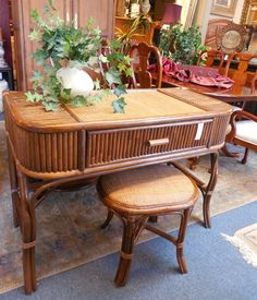 Desk and Stool $109.00 - Consign It! Consignment Furniture