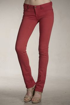 Love these red skinnies!