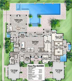 plan layout Plan Spacious Mediterranean Beach Home Plan Best Picture For chic beach house decor For Your Taste You are looking for something, and it is going to tell you exactly House Plan With Loft, Beach House Plans, Luxury House Plans, Dream House Plans, Modern House Plans, House Floor Plans, Luxury Floor Plans, Florida House Plans, Mansion Plans