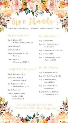 Thanksgiving Bible Study   Thanksgiving Bible Verses   Thanksgiving Bible Study Lesson   Bible Reading Plan For Women   Bible Study For Beginners   Give Thanks