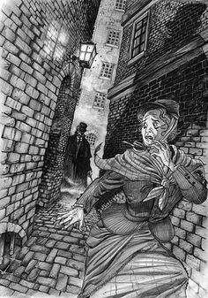 Whitechapel Murders - Here's a commission by David Hitchcock done back when he did WHITECHAPEL FREAK, his spin on the murders, in a tabloid newsprint format. David is available for commission NOW! Contact us to arrange yours!