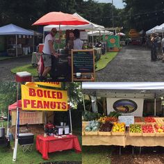 The sun is shining at the #eavfarmersmarket so get on over here and get yourself some boiled peanuts, organic produce and burritos a la Hector!