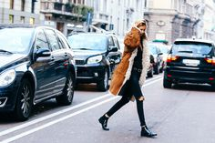 Street looks à la Fashion Week automne-hiver 2015-2016 spécial mannequins off-duty