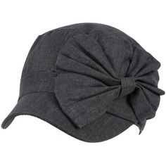 Cool Summer Big Ribbon Bow Military GI Castro Cadet Cabbie Elasitc Cap Hat Navy $21.95