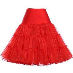 Fanhao 1950's Rock Roll Ball Dance Tutu Skirt Half Pettic...