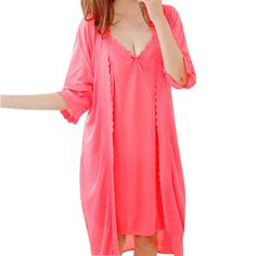 1f3837e08c Wholesale 2017 Women s Pajamas 2 Pieces Summer Nightgown Robe Suit Set Sexy  Silk Nightdress Princess Sleepwear Lace Sweet Pajama-in Robe   Gown Sets  from ...