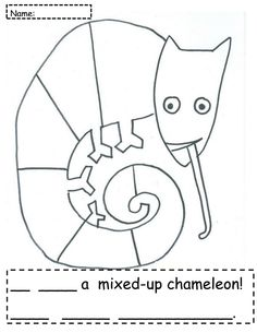 mixed up chameleon and a color of his own - be myself - free ... - Chameleon Coloring Pages Printable