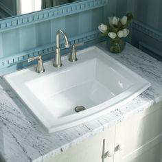 "Kohler Archer Drop-In Bathroom Sink with 4"" Centerset Faucet Holes"