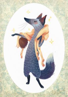 Ilustración by Olivia Salinas, via Behance ^^ Good idea....