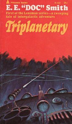 JACK GAUGHAN - art for Triplanetary (Lensman 1) by E.E. 'Doc' Smith - 1965 Pyramid Books