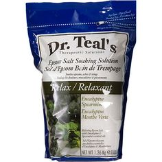 Dr TealsEucalyptus Epsom Salt Relax SO awesome! ♥ this stuff! And then a good foot massage from my honey :)