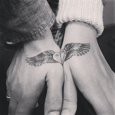 Just like lovers complete each other, their tattoos should too. This tattoo of a winged heart perfectly serves the purpose.
