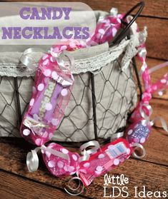 I wanted to share a great Mother's Day gift idea today since Mother's Day is Sunday!These are easy enough to do with your children at home, Primary or YW's even.To create your own Candy Necklaces y… Mother And Father, Mother Day Gifts, Fathers Day, Mothers, Activity Day Girls, Activity Days, Cute Gifts, Great Gifts, Arts And Crafts Projects