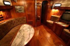 Our House has an Anchor: Choosing a Boat, Part III - The Finalists, Subpart B - Hans Christian 44 Pilothouse Sailboat Interior, Hans Christian, Boat Design, Boat Parts, Queen Beds, Second Floor, Stairways, Hardwood Floors, Sailing