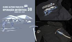 Ilustracao para camiseta Operação Antártica 30