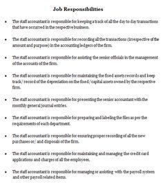 Job Responsibilities Nurse Description Accounting Jobs Nursing No Response Sample