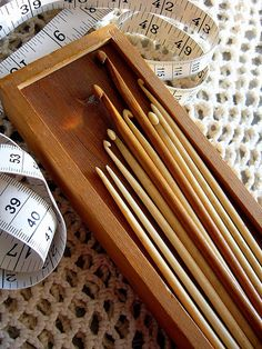 Portuguese knitting needles & bilingual measuring tape ~ so unusual