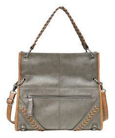 Look what I found on #zulily! Gray Harmony Fold-Over Hobo by Jessica Simpson Collection #zulilyfinds
