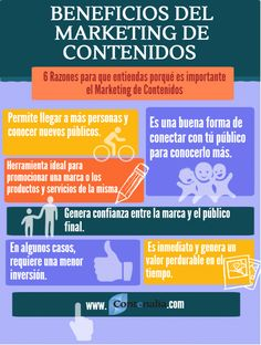 Beneficios del marketing de contenidos #infografia
