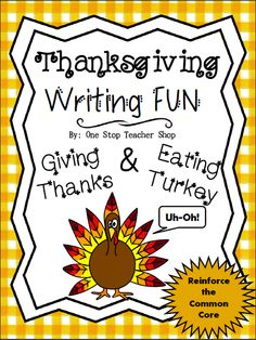 """FREE Thanksgiving Writing Activity! ...Follow for Free """"too-neat-not-to-keep"""" teaching tools & other fun stuff :)"""