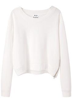 Minimal + Classic: Acne Studios Bird Fleece Cropped Pullover | La Garçonne