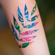 Pretty Tattoos, Love Tattoos, Unique Tattoos, Beautiful Tattoos, Body Art Tattoos, Tatoos, Colorful Tattoos, Cat Tattoos, Ankle Tattoos