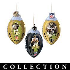 NFL Licensed New Orleans Saints Super Bowl Ornaments This is set 1. More sets to come $39.99 each set