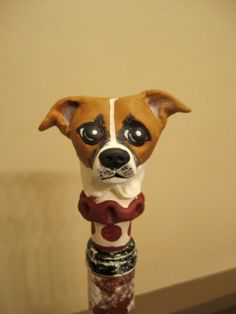 Customize Your Dog  Wine Stopper IV by WolfsFolkArt on Etsy, $23.00