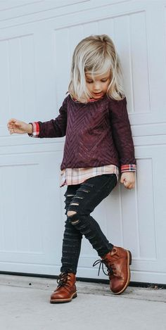 56 Cute Adorable Fall Outfits Ideas for Toddler Girls - My favorite children's fashion list Toddler Girl Fall, Toddler Girl Style, Toddler Girl Outfits, Toddler Hair, Baby Style, Girls Fall Outfits, Little Girl Outfits, Little Girl Fashion, Baby Outfits