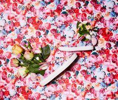 Flowerbunnies in blossom! Minna Parikka's Tail Sneaks in flower satin.