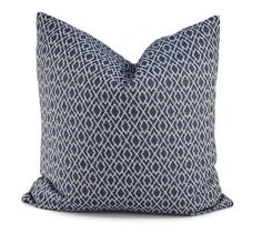 Navy Geometric Pillow Cover Throw Pillow Cover by ThePillowSpot