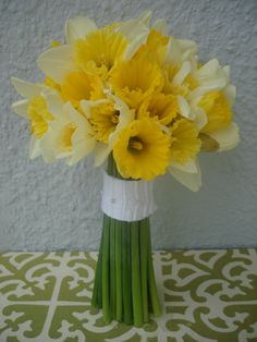 If I ever get married, I will have a daffodil bouquet.