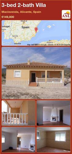 3-bed 2-bath Villa in Macisvenda, Alicante, Spain ►€149,000 #PropertyForSaleInSpain