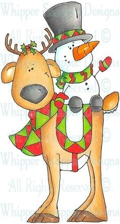 Ronny & Mini-Me - Christmas Images - Christmas - Rubber Stamps - Shop Christmas Canvas, Christmas Wood, Christmas Pictures, Christmas Snowman, Christmas Projects, Holiday Crafts, Christmas Stockings, Christmas Holidays, Christmas Decorations