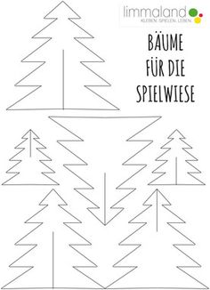 """Free Printable """"Trees"""": for kids play table or christmas ornaments. Preschool Letter Crafts, Kindergarten Crafts, Letter A Crafts, Christmas Advent Wreath, Xmas Ornaments, Christmas Crafts, Christmas Decorations, Christmas Floral Arrangements, Kids Origami"""