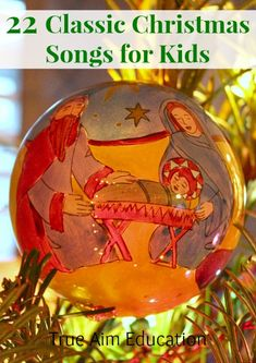 22 Classic Christmas Songs for Kids Free Printable!  Perfect for caroling.