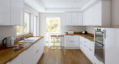 Výsledek obrázku pro kuchyn bílá dřevěná