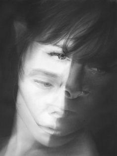 Melissa Cooke Drawing Graphite Portrait Art Between Spaces Mirror