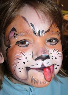 Kid Dog Face Painting Picture