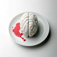 Propaganda - Brain Salt & Pepper Shaker by Chaiyut Plypetch