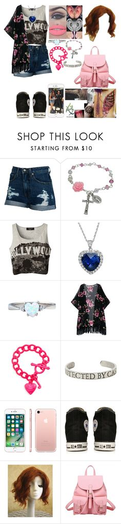 """""""Untitled #1314"""" by skh-siera18 ❤ liked on Polyvore featuring Wildfox, Sisters Point, Amanda Rose Collection, Juicy Couture, Hot Topic, Apple and Converse"""