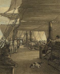 A scene on board His Majesty's ship 'Deal Castle', Captain J. Cumming, in a voyage from the West Indies in the year 1775 - National Maritime Museum