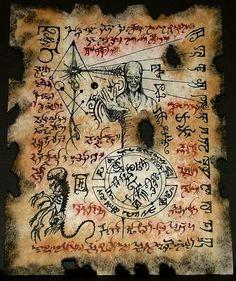 """Dho Hna Formula: """"Tibi, Magnum Innominandum, signa stellarum nigrarum et bufaniformis Sadoquae sigillum""""..."""