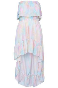 ROMWE | Rainbow Graffiti Print Bandeau Dress, The Latest Street Fashion #ROMWEROCOCO