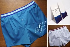 Something Blue on your Wedding day! Offer to your fiancé a blue boxershort and it will be your something blue for good luck!  caleçon homme confortable et élégant Clemence de Gabriac