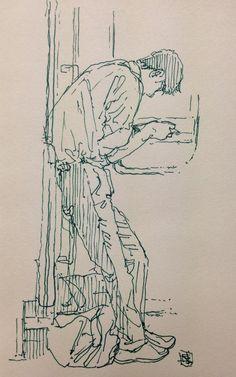 Figure Sketching, Urban Sketching, Figure Drawing, Sketch Painting, Drawing Sketches, Croquis Drawing, Animal Sketches, Arte Sketchbook, Art Reference Poses