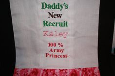 Custom Made/Made to Order Embroidered Burp Cloth by Gammysshop
