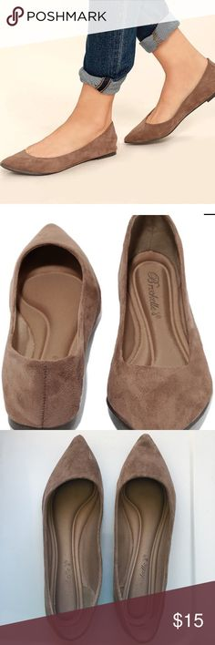 LUCILLE TAUPE SUEDE POINTED FLATS LUCILLE TAUPE SUEDE POINTED FLATS Lulu's Shoes Flats & Loafers